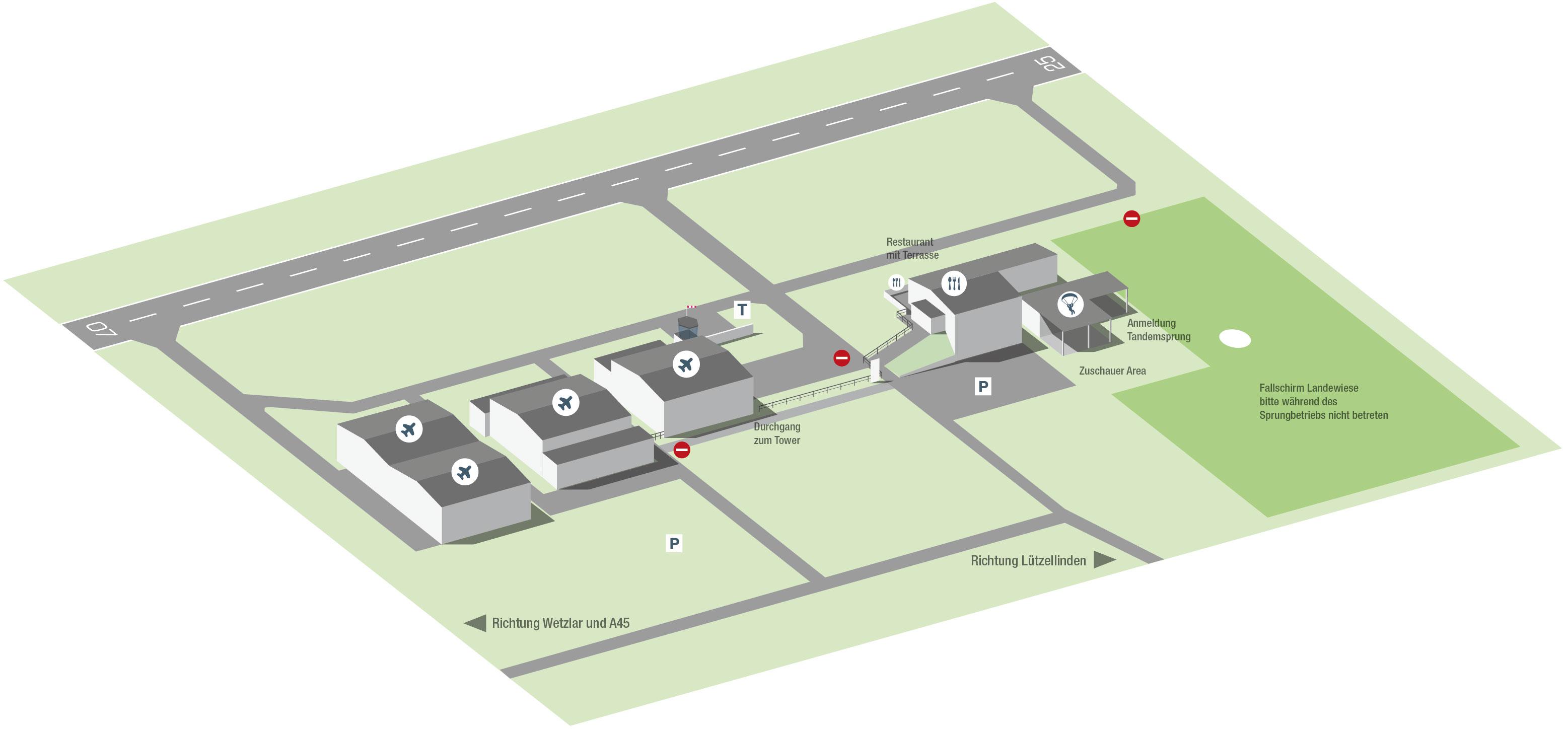Orientierungsplan Flugplatz Lützellinden